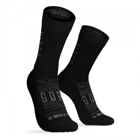 CALCETIN GOBIK WINTER MERINO UNISEX BLACK 2020