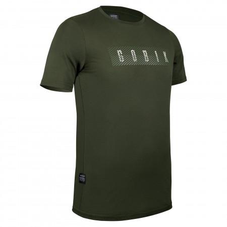 Camiseta Manga Corta Gobik Tee Hombre Overlines Army