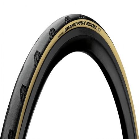 Cubierta Continental Grand Prix 5000 Negro/Crema