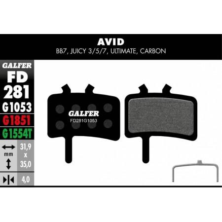 Pastillas Freno de disco Galfer Avid Juice 5-7 BB7 Standar
