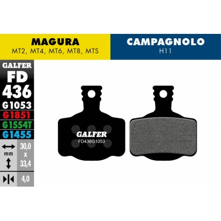 Pastillas Freno de disco Magura MT2/4/6/8 MTS Standar
