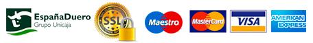 Pago seguro con tarjeta de crédito o débito